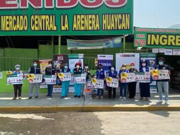Huaycán Mercado La arenera en campaña