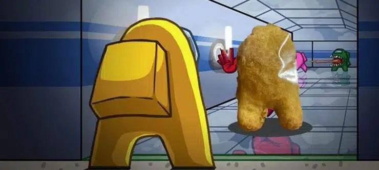 Nugget en forma de Among Us se vende por casi $100,000