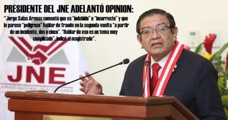 Jorge Salas Arenas Foto JNE 2