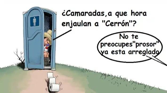 Pedro Castillo y Cerrón caricatura