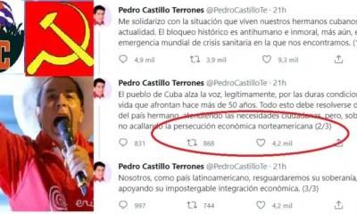 PEDRO CASTILLO DEFIENDE A GOBIERNO COMUNISTA DE CUBA ya