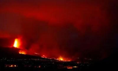 Volcán en Canarias