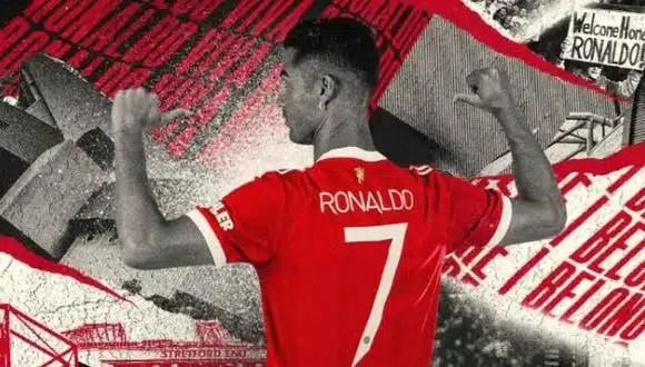 Cristiano Ronaldo vestirá la camiseta 7, anuncia el Manchester United