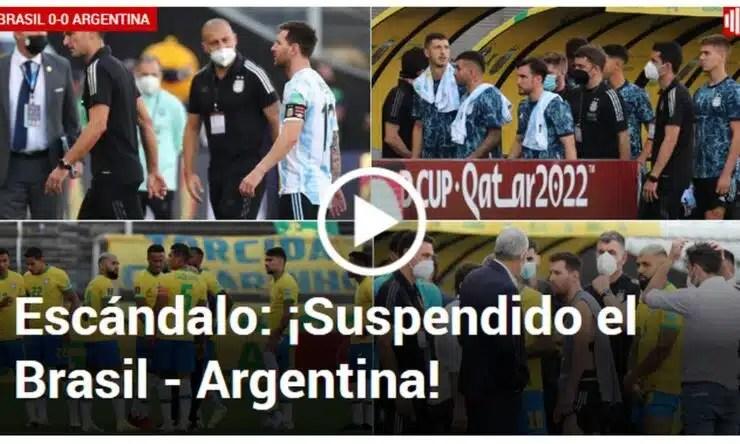 Del 'papelón mundial' al 'escándalo': Brasil vs Argentina