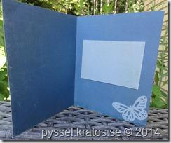 tre lager kort i blått insida