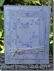 tre lager kort i blått