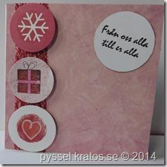 julkort i rosa