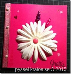 cerist kort med vit blomma