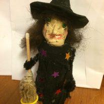 Halloween häxa som barnpyssel