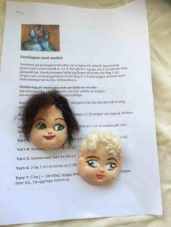 Virkmönster med 2 dockansikte