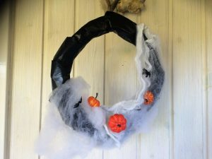 Halloween krans med spindelnät