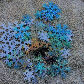 Snöflingor i olika storlekar