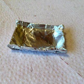 Silverbricka som miniatyr