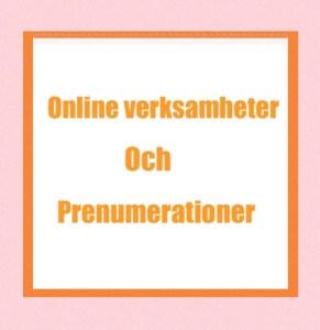 Onlineverksamhet och prenumerationer