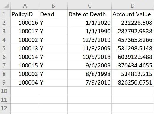 Example spreadsheet 3