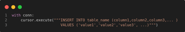 add values in sqlite database table