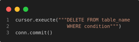 delete records from a sqlite database table