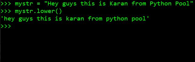 Python Basic Program to Convert String to Lowercase