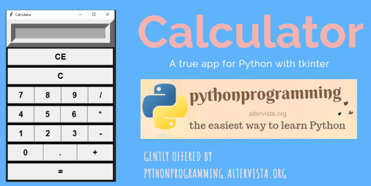 Tkinter - Example 2: a calculator | python programming
