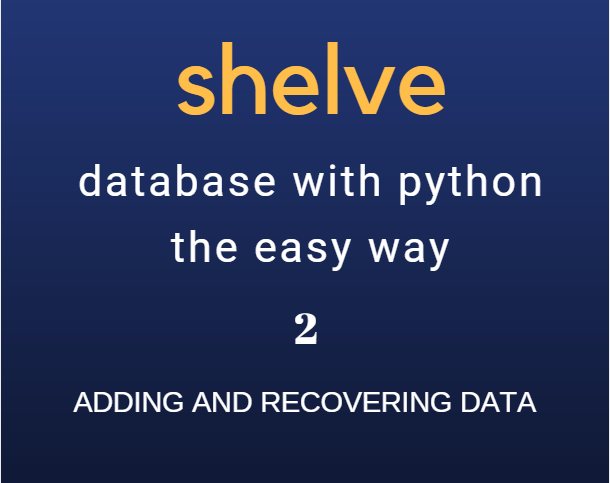 Shelve: add data