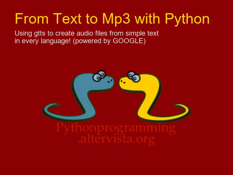 If you get an error using gtts module | python programming