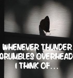 It's not the thunder, it's the wind