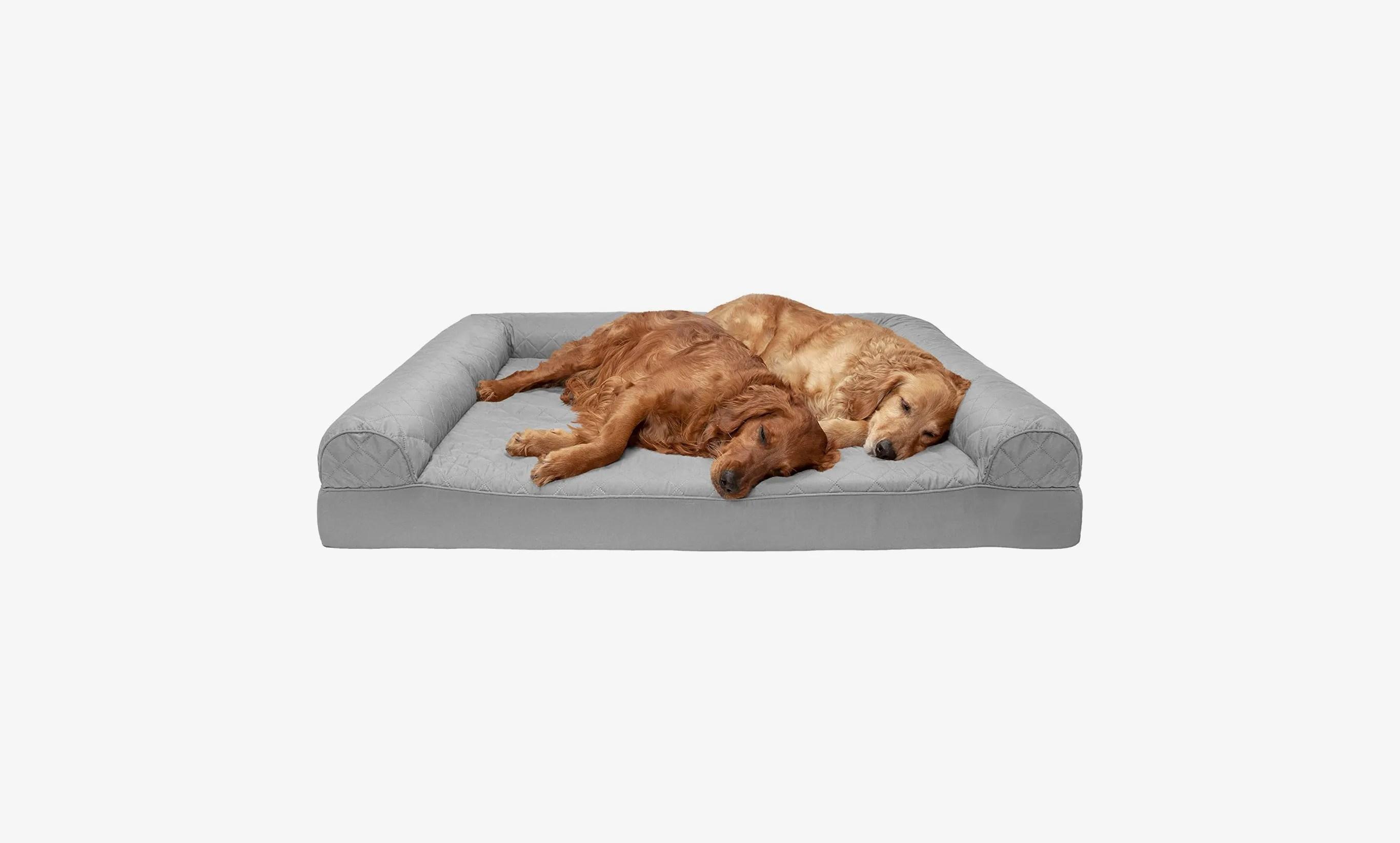 furhaven jumbo plus orthopedic sofa style dog bed