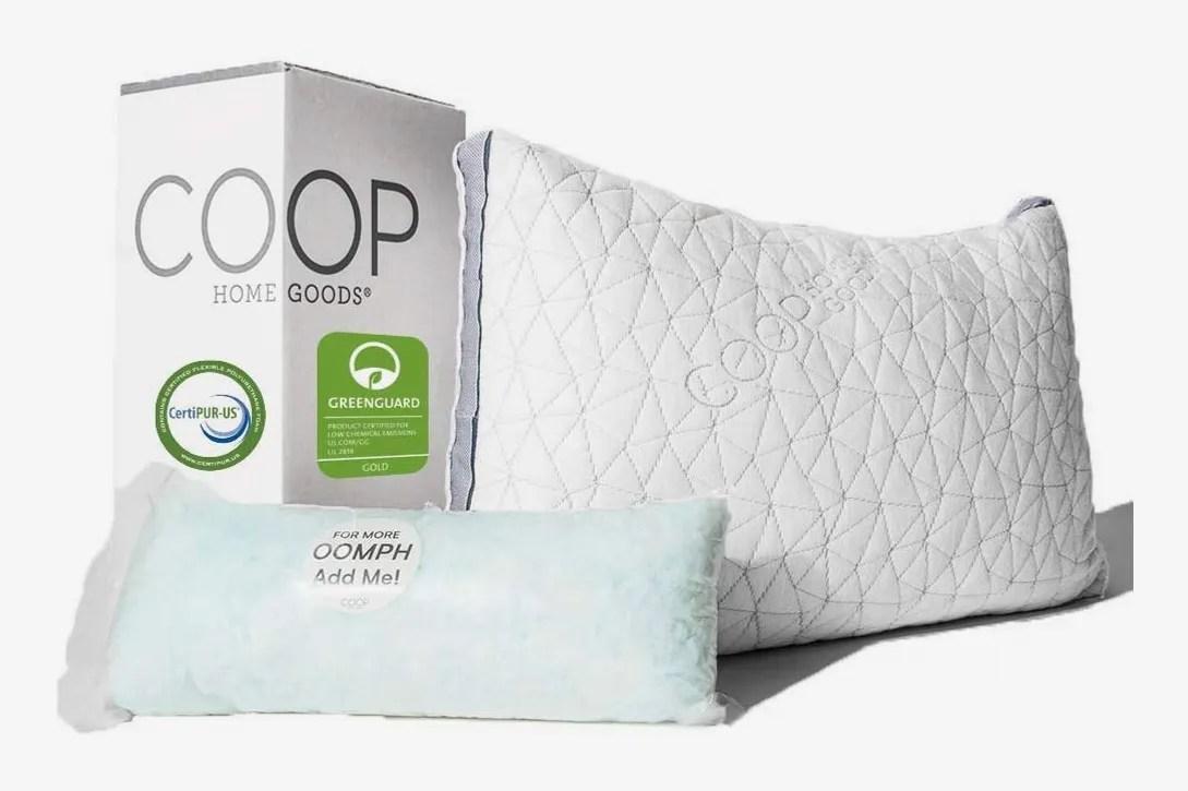 coop home goods eden adjustable pillow