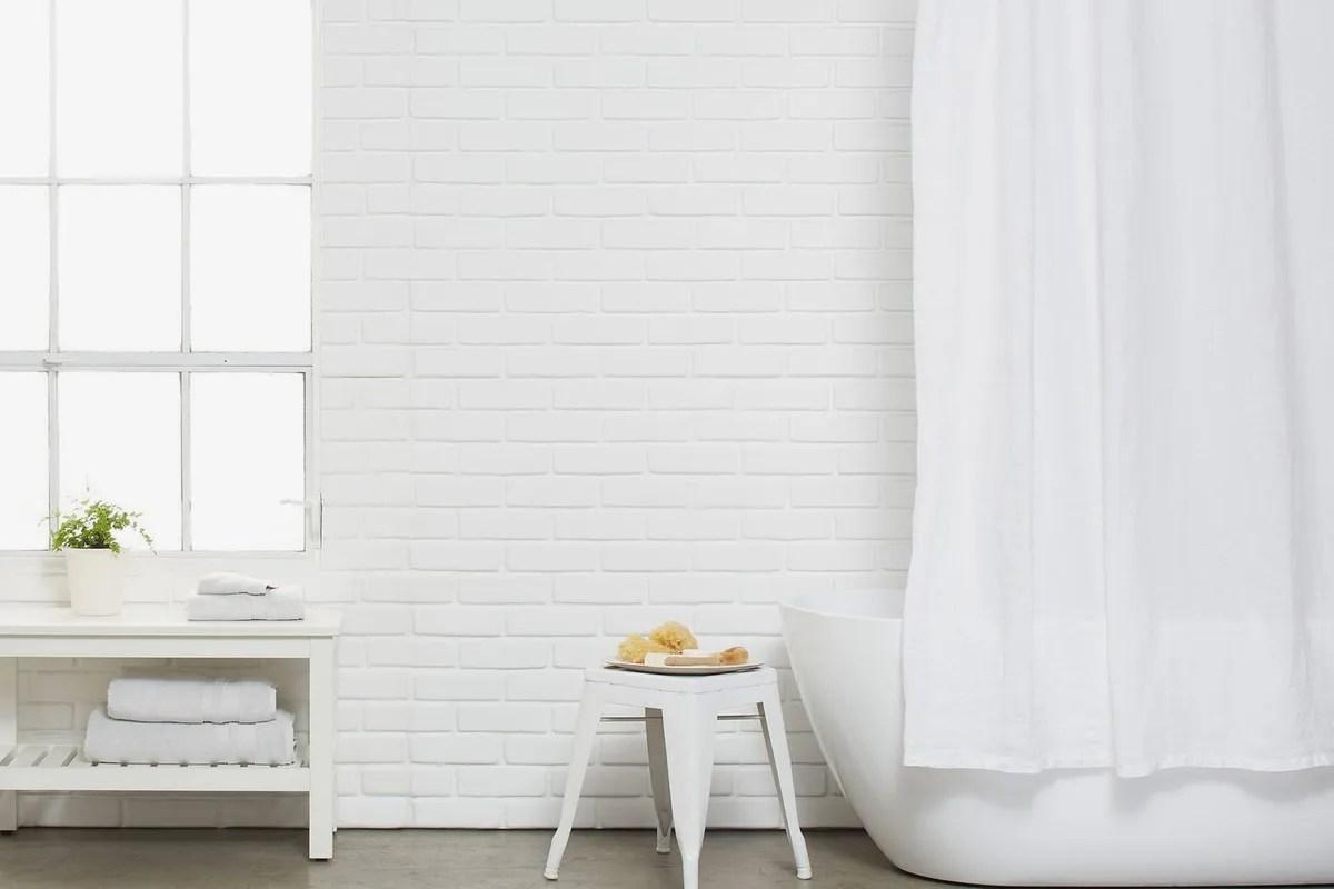 stonewashed belgian linen shower