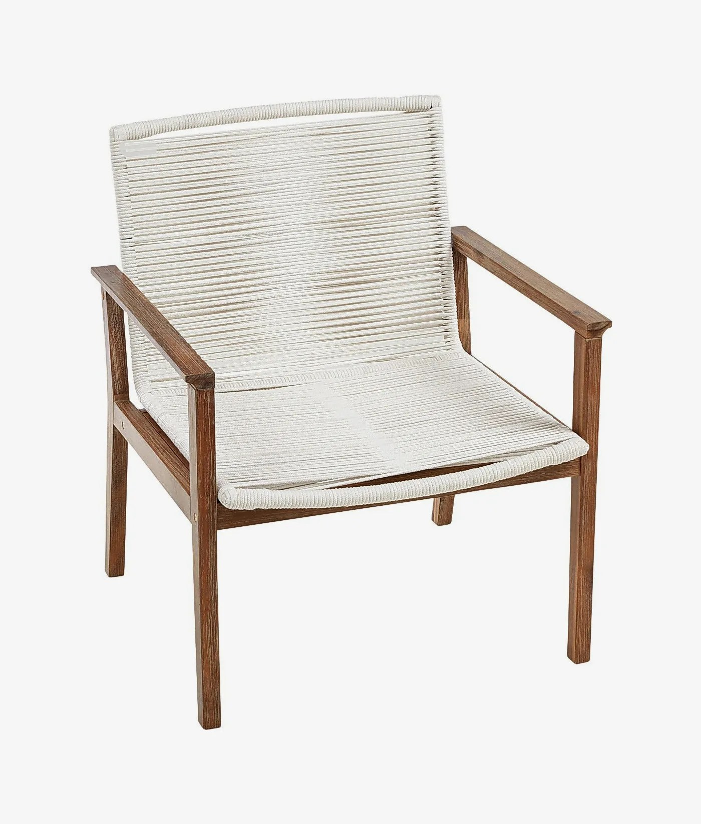 malta ivory rope chair