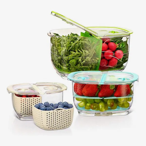 LUXEAR Fresh Produce Vegetable Fruit Storage Containers 3 Piece Set