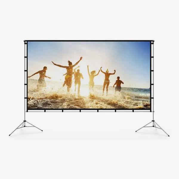 Vamvo 120-Inch Outdoor Indoor Projector Screen With Stand