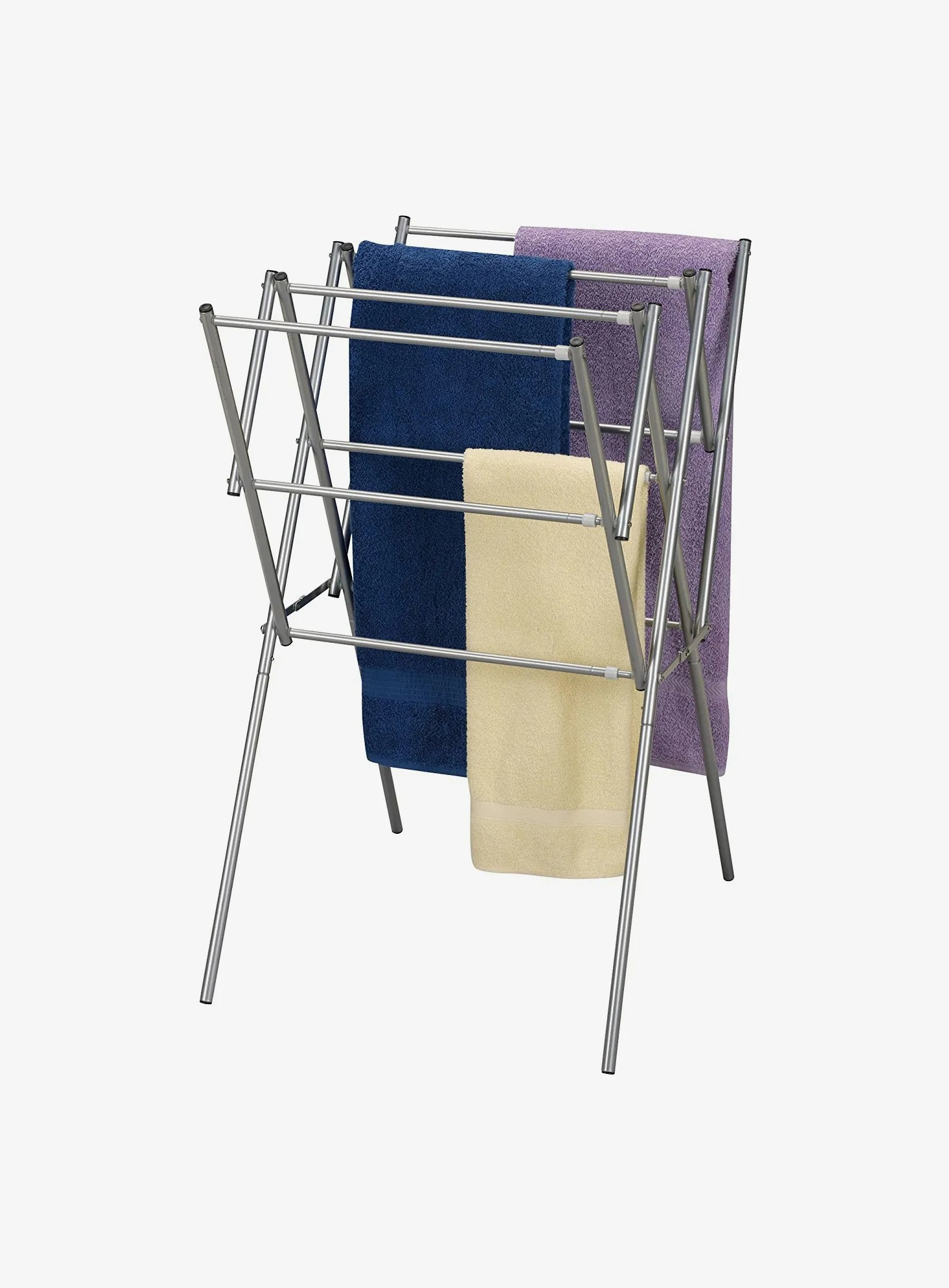 household essentials collapsible expandable metal clothes drying rack