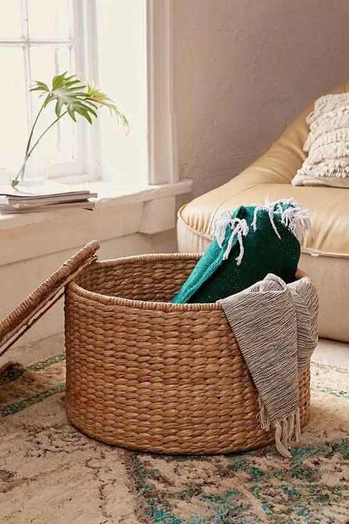 12 large storage baskets for bedding