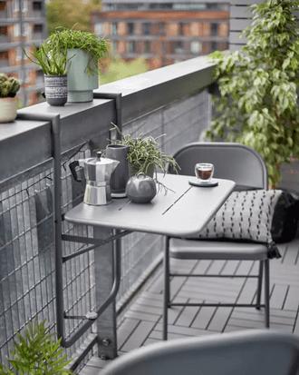 argos home space saving 2 seater balcony bistro set