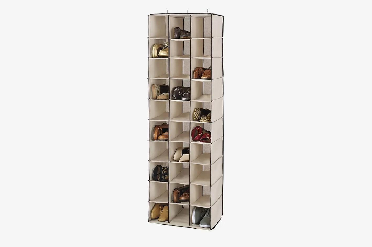 whitmor 30 section hanging shoe shelves