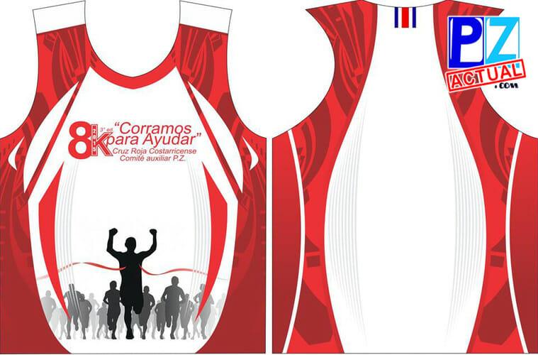 Esta es la camiseta diseñada para los corredores que paguen su inscripción.