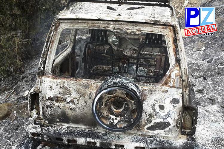 Automóvil quemado www.pzactual.com
