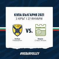 Изтеглиха жребия за третия кръг от турнира за Купата на България по волейбол