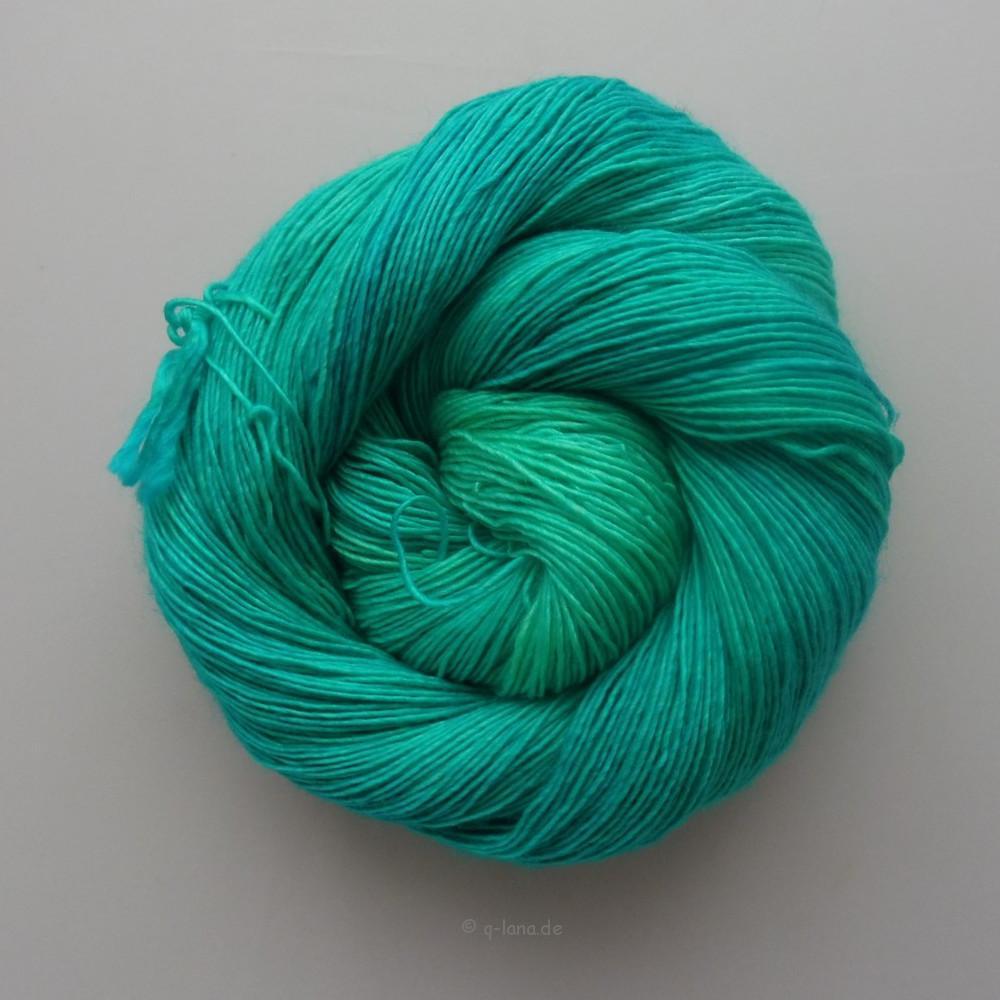 Merino Silk Single - Türkiser SteinShop