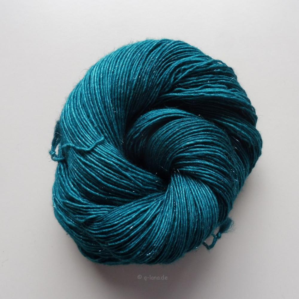 Merino Sparkle Singles - Blaugrün Shop