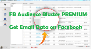 FB Audience Blaster PREMIUM - Get Email Data on Facebook