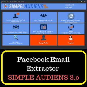Facebook Email Extractor - SIMPLE AUDIENS 8.0