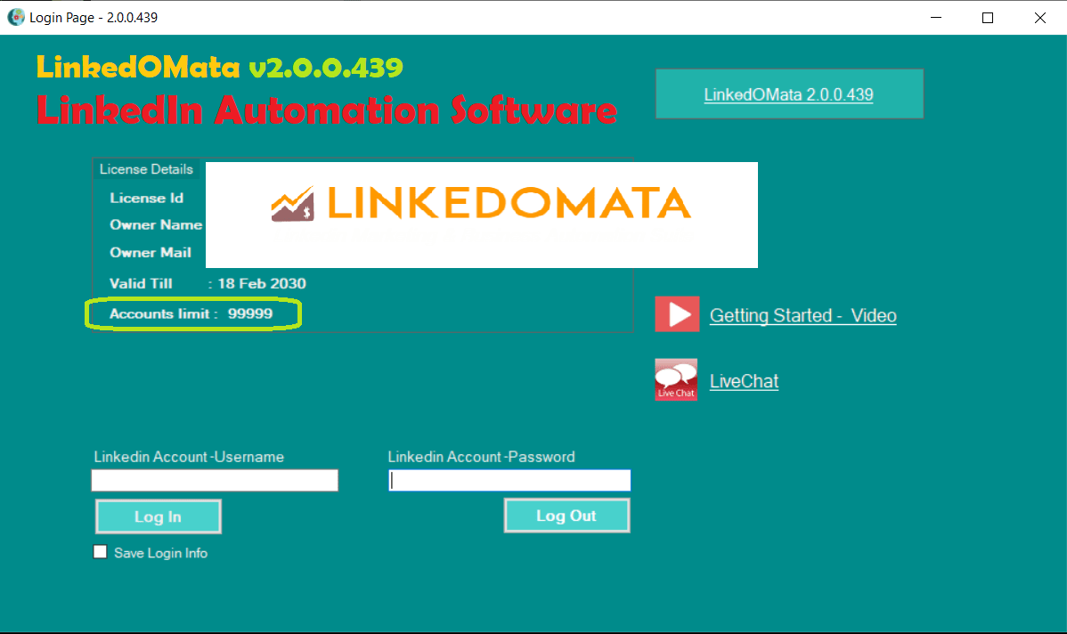 LinkedOMata – LinkedIn Automation Software