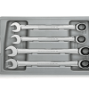 4 Pc. 12 Point Ratcheting Combination Metric Wrench Set with Tray GW-9413