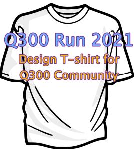 T-Shirt logo design for the Q300 Fun Run 2021