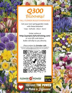 Read more about the article Q300 Blooms: Flower Power Fundraising (deadline on 10/15/2021)