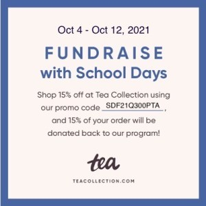 Read more about the article Fundraising with Tea Collection School Days Fall 2021