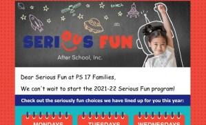 SeriousFun after school program in Fall 2021
