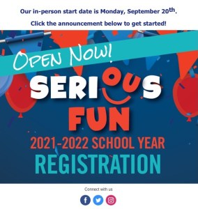 SeriousFun after school program in Fall 2021 (registration started)